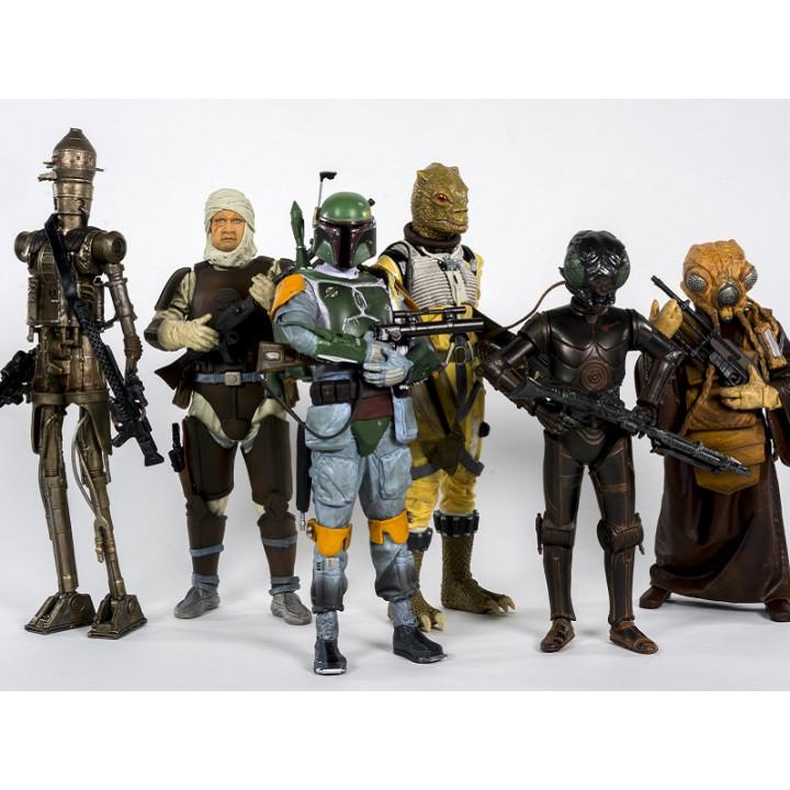 Фигурки Звездные Войны охотники за головами  4-LOM, Dengar, IG-88, Bossk, Zuckuss, Boba Fett