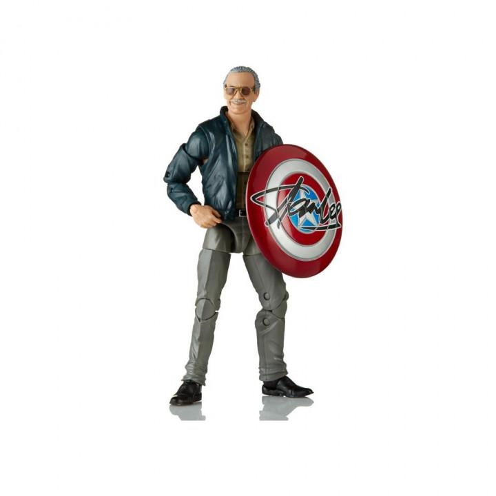 Фигурка Стэн Ли со щитом Marvel Legends (Stan Lee with Shield)