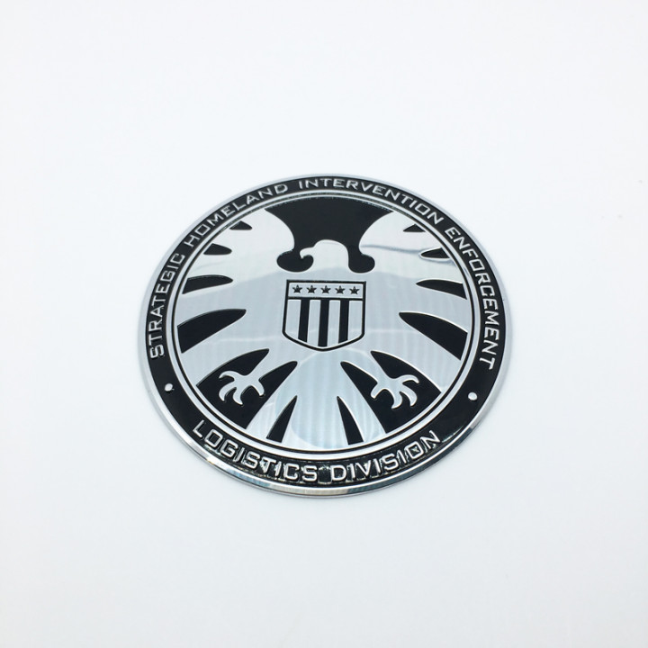 Металлическая наклейка старый логотип S.H.I.E.L.D.