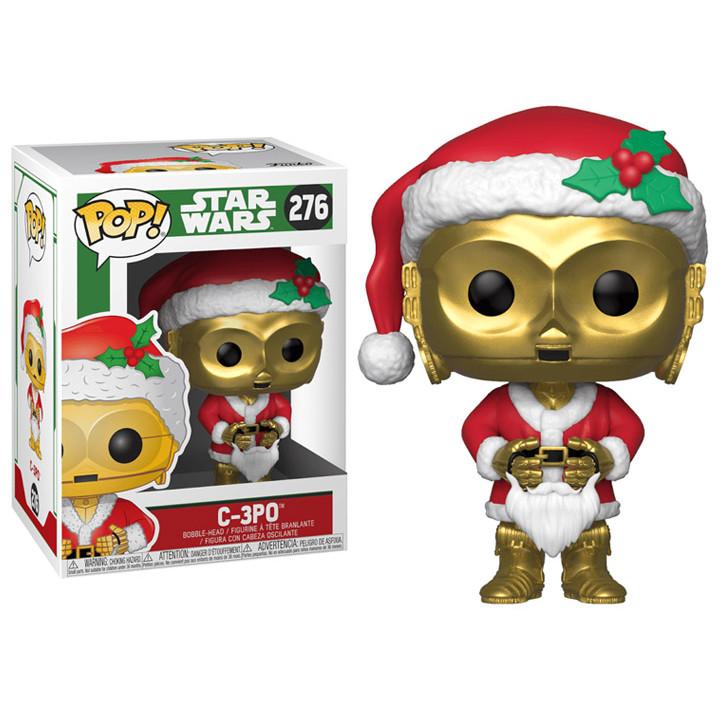 Funko POP! Фигурка дроида секретаря C-3PO в костюме Санты