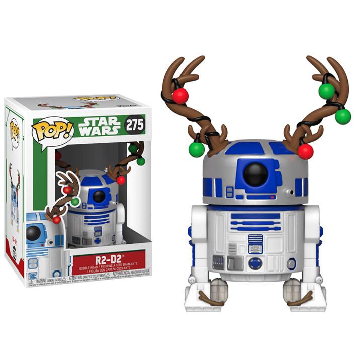 Funko POP! Новогодняя фигурка дроида R2-D2 в костюме Оленя