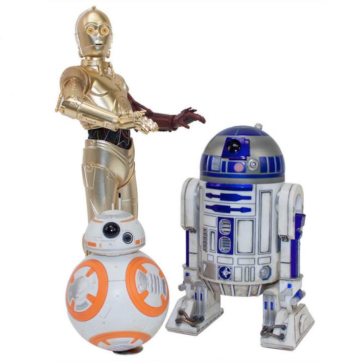 Набор из трех фигурок дроидов C-3PO, R2-D2 и BB-8