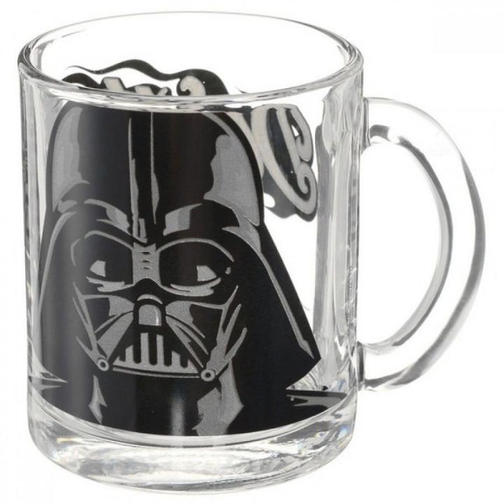 Star Wars Стеклянная кружка с изображением Дарта Вейдера