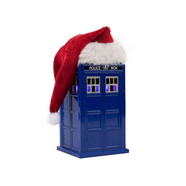 Doctor Who T.A.R.D.I.S. & Santa Hat LED Light-Up Ornament