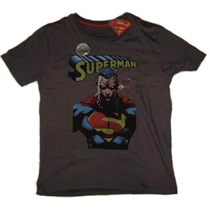 Хлопковая футболка Супермен цвет серый