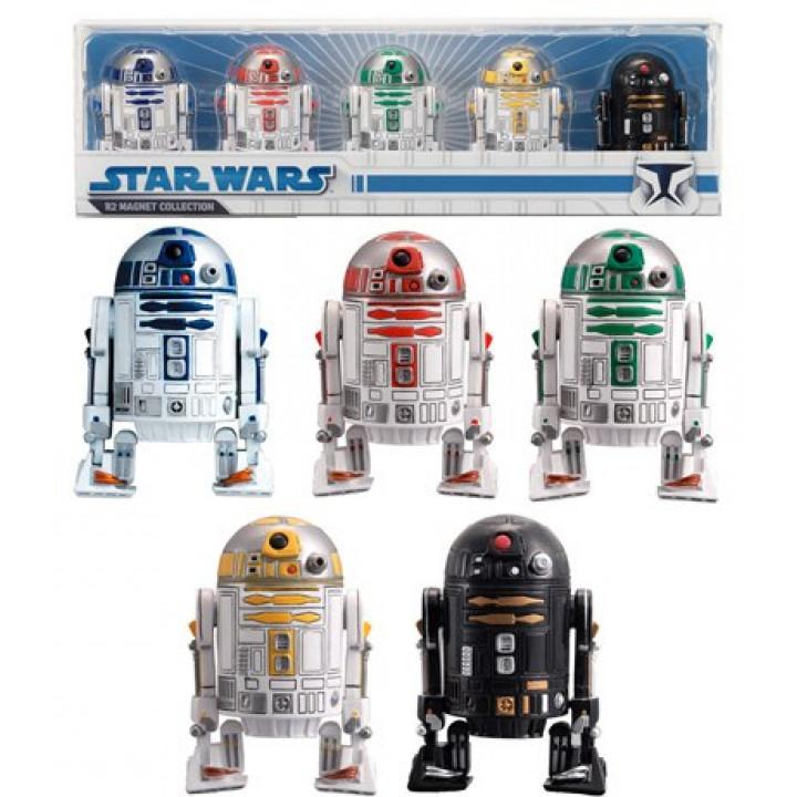 Набор магнитов в форме роботов R2