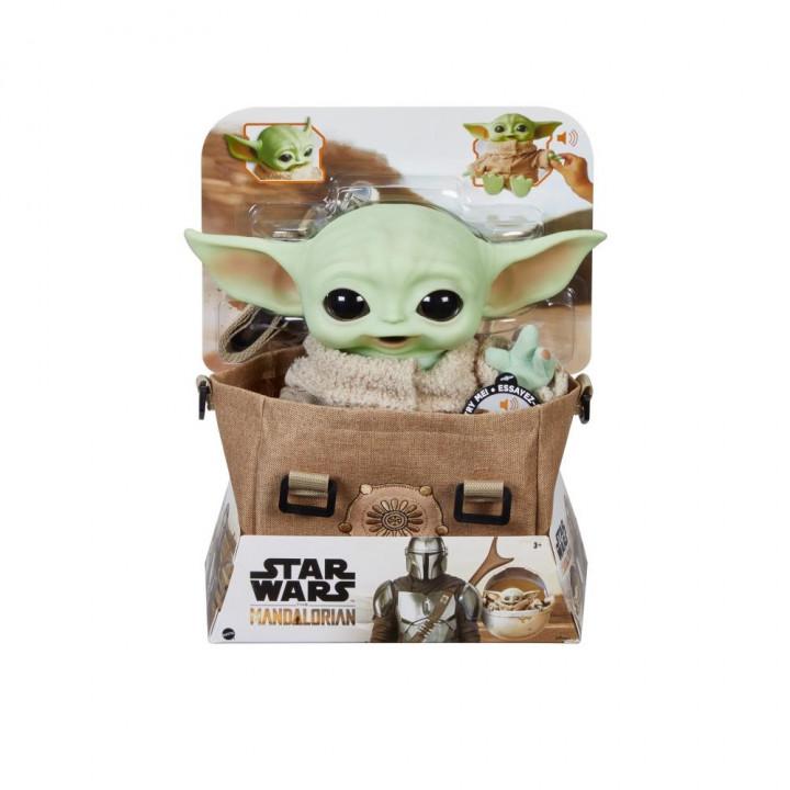 Star Wars Фигурка плюшевого Малыша Йоды (Грогу) с сумкой из сериала Мандалорец
