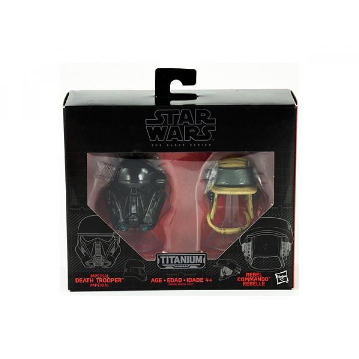 Star Wars Black Series Die-Cast Helmet Death Trooper Die-Cast / Rebel Commando
